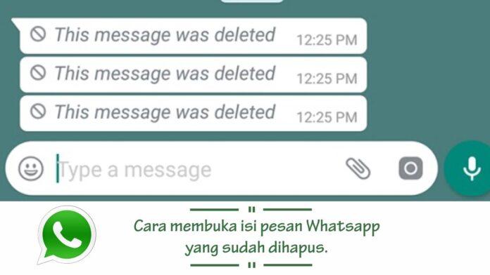 cara melihat pesan whatsapp